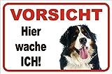 AdriLeo Schild - Vorsicht Berner Sennenhund Hier Wache ich (20x30cm)
