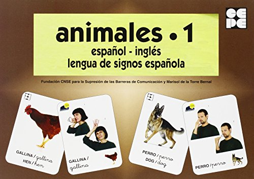 Animales 1. Baraja Español-Ingles. Lengua De Signos Española (Vocabulario Fotografico Element) por Vv.Aa.