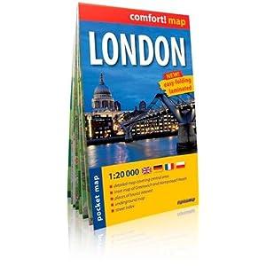 Londres, plano callejero de bolsillo plastificado. Escala 1:20.000. ExpressMap. (Comfort ! Map)