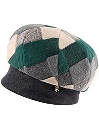 DT YMLE A Mujer Puntadas Invierno Moda Mantener Caliente Frío Sombrero 0e90e13449e