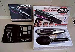 Flipco Power Grow Laser Comb Kit Regrow Hair Loss Therapy Cure Promotes the Appearance of New Hair with Manicure Set FHL-13281