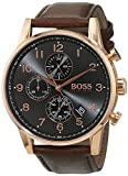 HUGO BOSS Men's Chronograph Quartz Watch with Leather Strap - 1513496