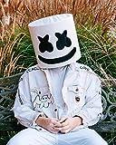 Máscara de Casco de DJ Marshmello, Adulto y niños, máscara de Festival de música de DJ Fiesta de Novedad Traje máscara de Casco