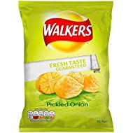 Walkers Pickled Onion Crisps 32.5 g (Pack of 32)