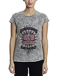 Harry Potter Women's Grey Color Half Sleeve T-shirt(Size -S)