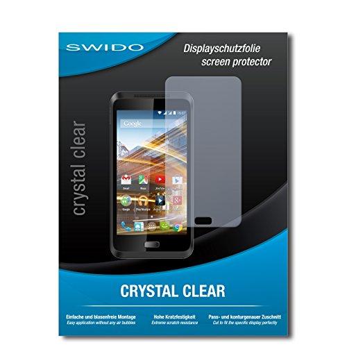 SWIDO Displayschutz für Archos 45 Neon [4 Stück] Kristall-Klar, Hoher Härtegrad, Schutz vor Öl, Staub und Kratzer/Schutzfolie, Displayschutzfolie, Panzerglas Folie