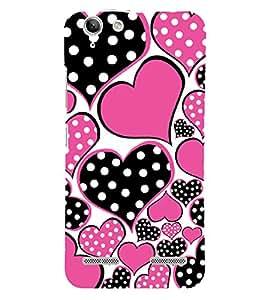 Black and Pink Hearts 3D Hard Polycarbonate Designer Back Case Cover for Lenovo Vibe K5 Plus :: Lenovo Vibe K5 Plus A6020a46 :: Lenovo Vibe K5 Plus Lemon 3