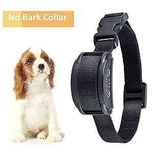 URXTRAL Collier Anti-Aboiement Pets Finest pour Chiens – Collier de Dressage pour Chiens avec Son & Vibration pour les Petits et les Grands chiens, Noir