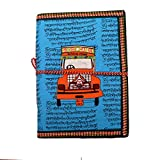 #8: Purpledip Handmade Paper Journal 'Arount The World': Vintage Diary Notebook With Thread Closure (11161)
