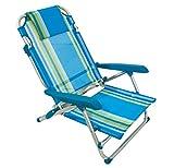Strandstuhl aus Aluminium mit 4einstellbaren Positionen, blau