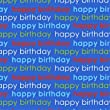 Navy Blue Happy Birthday Wrapping Paper with Gift Tags - Pack of 2