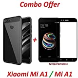 #10: Goelectro (COMBO OFFER) Mi A1 / Redmi A1 / Mi Redmi A1 / Xiaomi Redmi A1 / MiA1 / RedmiA1 / Xiaomi Mi A1 Android One Original CAMERA PROTECTION AUTO FOCUS All Sides Protection Sleek Transparent Back Case Cover For Redmi Mi A1 / MI 5X (Black) + 2.5D curved 3D Edge to Edge Tempered Glass Mobile Screen Protector (Black)