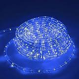 ECD Germany 10m 11W LED Tubo Flessibile Corda 36 LED/m CA 220-240V Blu 603 Lumen Luci Decorazione Interno Esterno