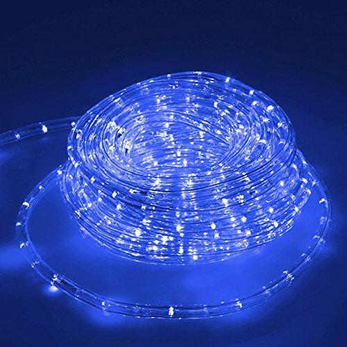 ECD Germany LED Lichterschlauch Blau, 20 Meter/36 LED Lampen pro Meter/Energieklasse A+ -