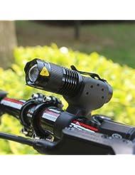 Bicicleta Linternas, BlueSterCool 1200 Lumens Cree Q5 Alta Potencia LED Zoomable Linternas Faros Delanteros de Ciclismo + 360 ° Soporte de Linterna (Negro)