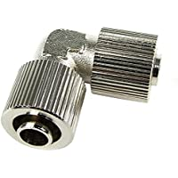 L 90 Degree Compression Fitting for 5/16 ID - 7/16 OD (8-11mm) Tubing : Silver