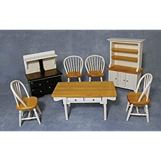 1/12th Scale White Kitchen Set for Dolls House