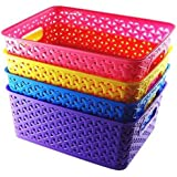 FAIR FOOD Naoe Fair Food Storage Basket - Multi Color (Pack of 4)