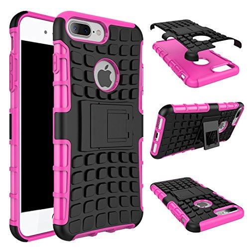 iPhone 7 Plus Hülle, iPhone 8 Plus Hülle, Valenth Armor Drop Beweis Ganzkörper Rückseiten Cover Hülle für iPhone 8 Plus / iPhone 7 Plus Rosa