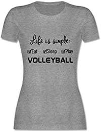 Shirtracer Volleyball   Life Is Simple Volleyball   Damen T Shirt Rundhals