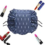 XDODD Faule Make-up Tasche Kordelzug Tragbare Quick Pack Reise-Make-up-Etui Fall Multifunktionale wasserdichte Kulturbeutel Make-up Pinsel Aufbewahrungs-Organizer (E)