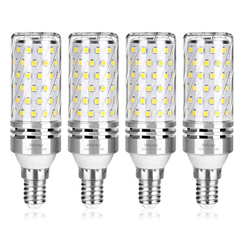 Wedna Bombilla LED E14, 15W Blanco Frío, 120W Incandescente Bombillas Equivalentes, 1500Lm, Pequeño Tornillo de Edison Bombillas LED, No regulable - 4 unidades