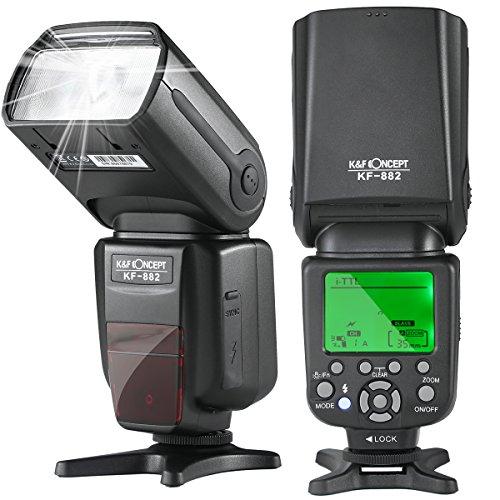 K&F Concept i-TTL Blitz Flash Blitzlicht Blitzgerät für Nikon Kamera Leitzahl 58 mit HSS 1/8000s Masterblitzfunktion