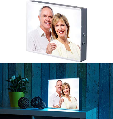 infactory Foto Leuchtkasten: LED-Leuchtkasten für individuelle Bilder auf Folie und Papier, DIN A4 (Leuchtrahmen)