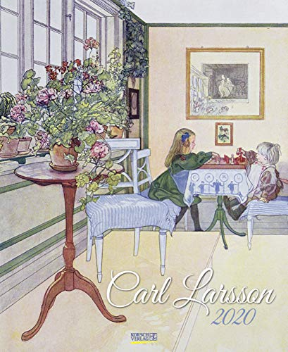 Carl Larsson 2020: Kunstkalender mit Werken des Künstlers Carl Larsson.  Wandkalender im Jugendstil. Hochformat: 36 x 44 cm, Foliendeckblatt