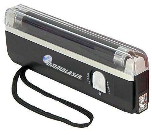 OmniaLaser OL-UVMONEY - Llámpara de Wood UV Ultravioleta Detector de Billetes Falsos con Linterna LED...
