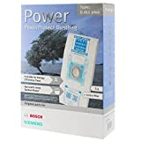 Bosch Typ G Original PowerProtect Microfasertuch Staubsaugerbeutel + Filter (Packung mit 5 Stück)