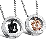 """Best Necklace His And Hers - Peora""""Keep Me in Your Heart"""" Engraved Crystal Crown Review"""