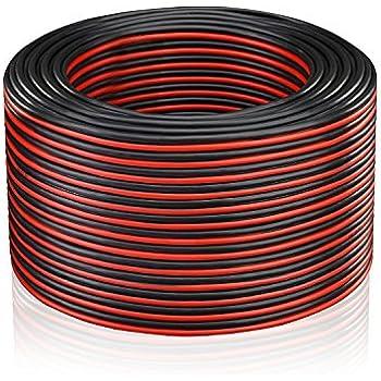 MANAX 2x2,5mm/² Lautsprecherkabel rot//schwarz 30 m Ring