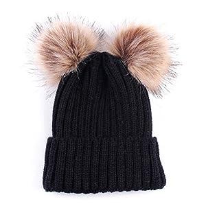 Loveble Baby Pom Pom Warm Knitted Hat Kids Winter Snowboard Hat Age 0-3 Years