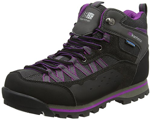 Karrimor Spike Mid Ii Ladies Weathertite, Chaussures de Randonnée Hautes Femme Violet (Black Purple)