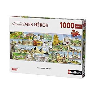 Nathan-87478-Puzzle Viaje de Astérix 1000Piezas