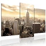 XXL Format + TOP BILD LEINWAND + 3 TEILIG + New York + Wandbilder 030211-5 + 120x100 cm +++ RIESEN BILDER KUNSTDRUCK WANDBILDER AUSWAHL IN UNSEREM HAENDLERSHOP +++