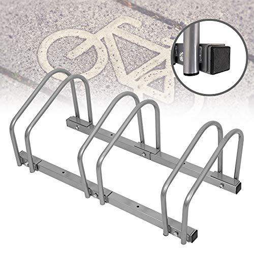 FROADP Mehrfachständer Fahrradständer - Für 3 Fahrräder Fahrradparker - Boden und Wandmontage -