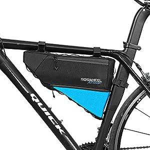 ROSWHEEL 4L Bolso de Bicicleta Triangle- Bolsa Frontal de Tubo para Bicicleta Impermeable,Alforjas Delantera Triangulo,Bolsa del Tubo Frontal Titular Triángulo Ciclismo Bicicleta
