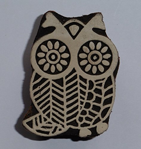 owl-shaped-indian-hand-carved-wooden-printing-block-stamp