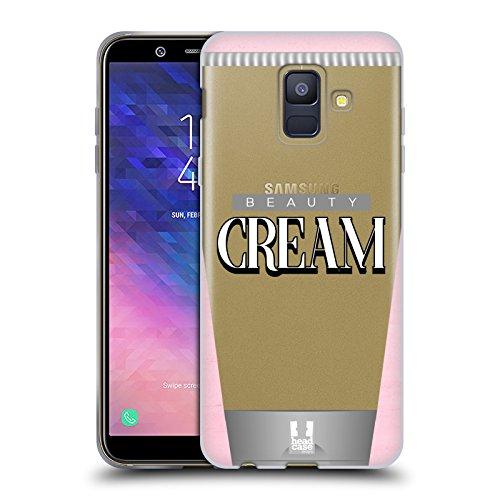 Head Case Designs Schönheitscreme Lebenswichtige Güter Soft Gel Hülle für Samsung Galaxy A6 (2018)