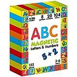 Magnetische letters en cijfers 132 stukken - Alfabet magneten - Letters magneten - Magnetisch alfabet letters - Speelgoed magneten - Magneten voor kinderen - Educatief speelgoed - Speelgoed leren - Peuterspeelgoed - Kinderspeelgoed