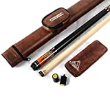 CUESOUL 19 Unzen 1/2 Jointed Maple-Pool Queue mit Etui