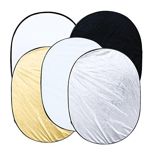 Pannello Riflettente Andoer 5 in 1 Pieghevole Multi Disc Fotografia Photo Studio Fotografico Fotocamera Luce Riflettore,Diffusore Con Valigetta