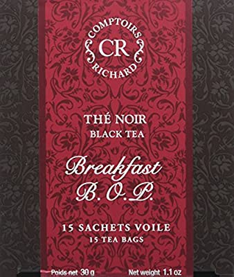 Comptoirs Richard Thé Noir Breakfast Bop 15 Sachets 30 g - Lot de 2
