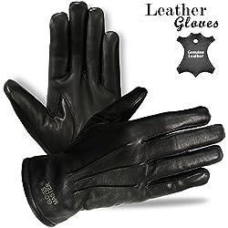 Para hombre vestido de cuero guantes de invierno de piel Para Moto Guantes para moto–S a 2X L