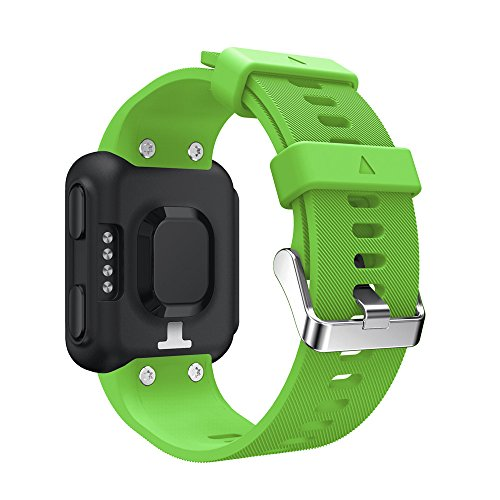 Per Garmin Forerunner 35Peibo SW75sostituzione cinturino da polso Silicagel morbida fascia da polso, Green