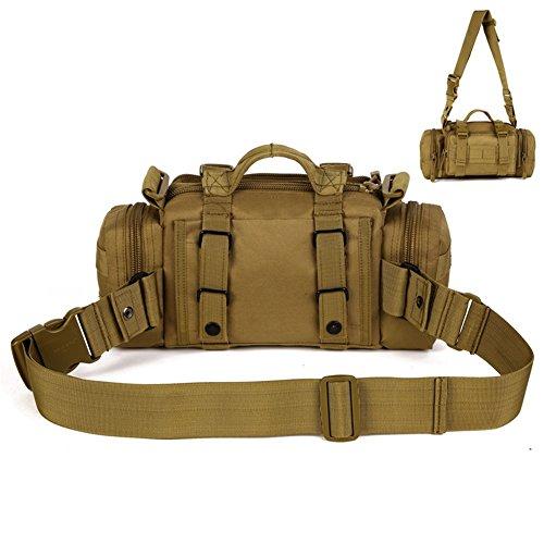 DINGANG® Tactical Gürteltasche Hüfttasche Beutel für Militär Camping Wandern Outdoor Braun