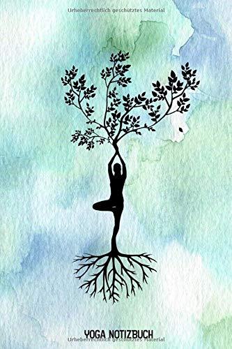 Yoga Notizbuch: Lebensbaum - Yoga Planner Meditations Tagebuch Achtsamkeitsbuch - liniert - 120 Seiten - ca. A5 - mit Softcover -