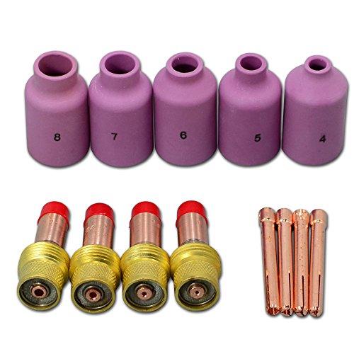 Preisvergleich Produktbild WIG Gaslinse Zusatz-Verbrauchsmaterial-Installationssatz für WP-17 WP-18 WP-26 WIG-Schweißbrenner 13pcs